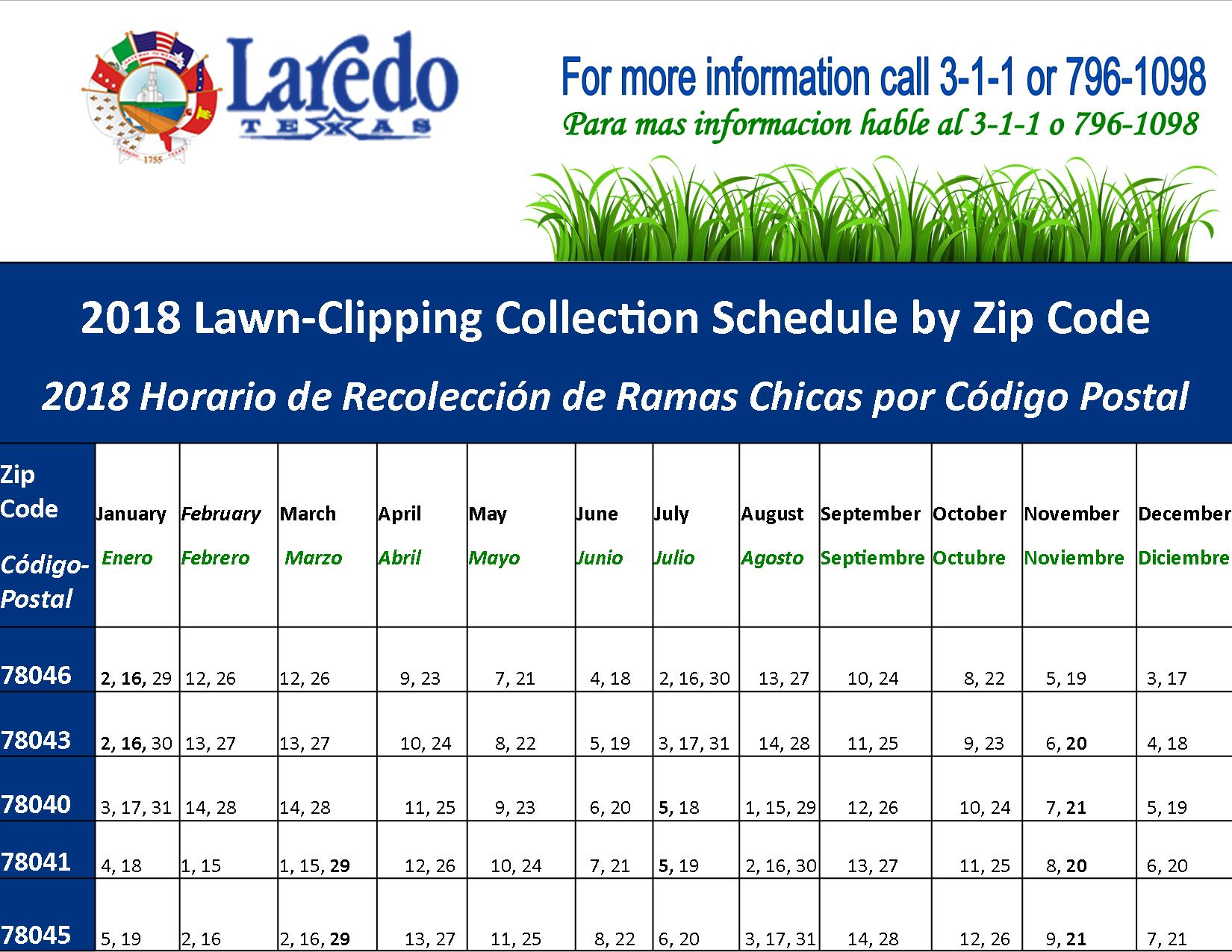 lawn-clipping collection service